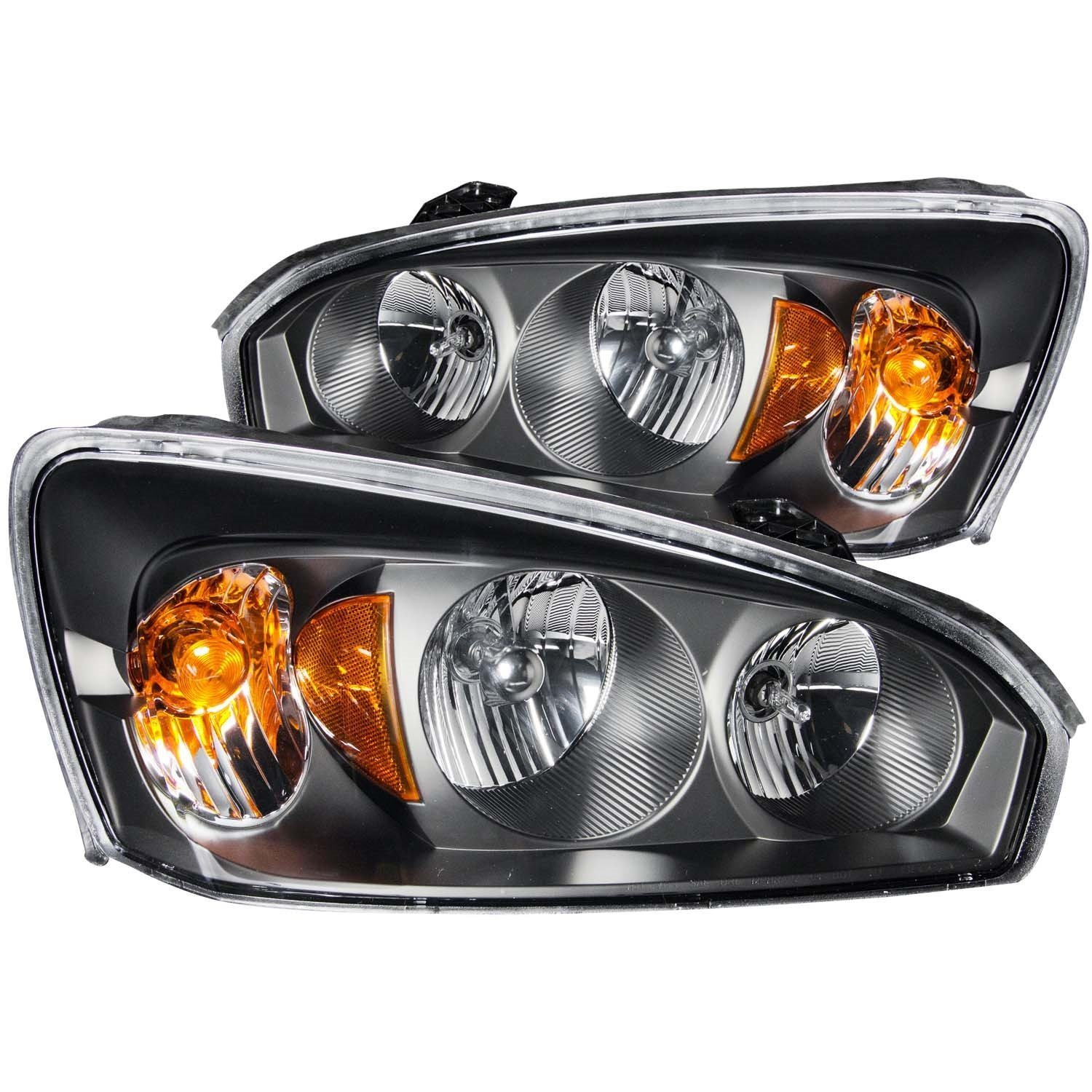 Amazon com 2004 2007 chevy malibu headlights lamps 8 led fog bumper light automotive