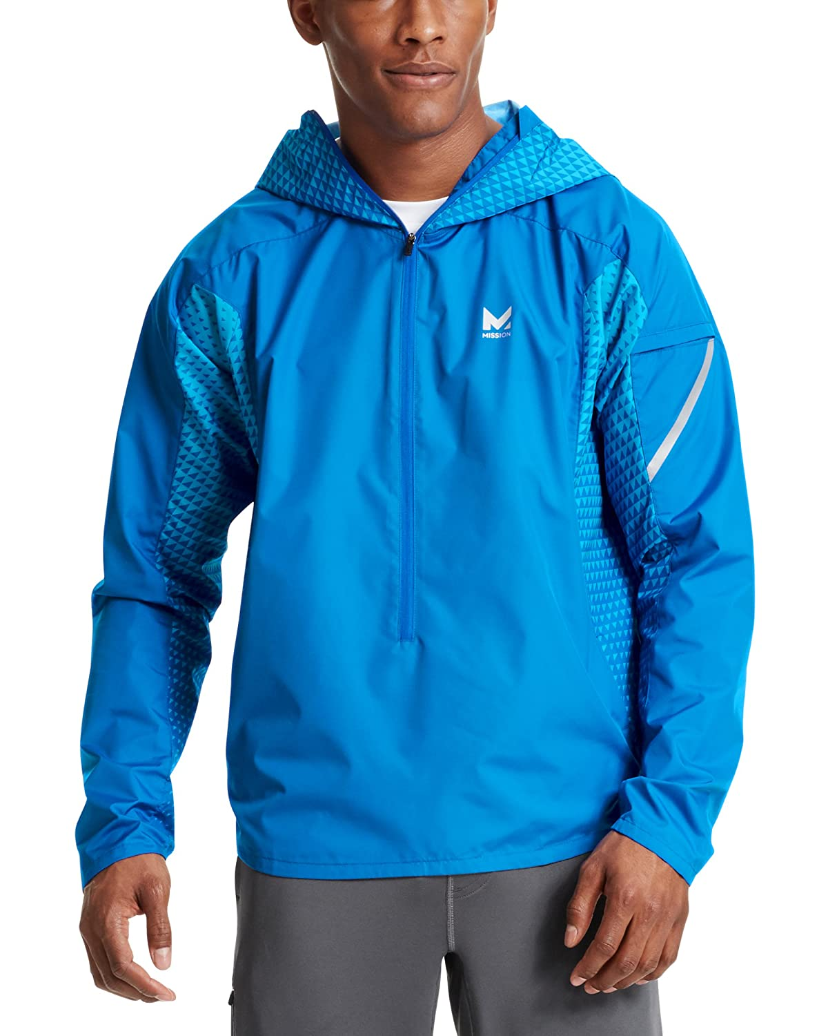 Mission Men's VaporActive Barometer Running Jacket
