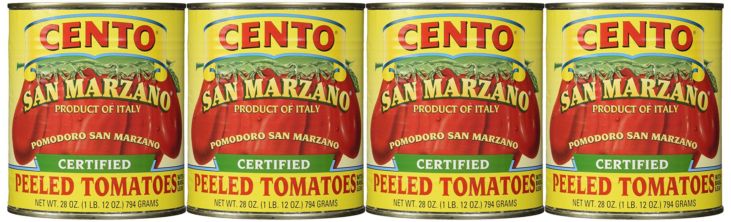 San Marzano Certified Cento Italian Peeled Tomatoes, Case of 4 /28 oz