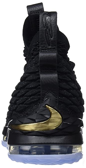 watch cca87 635ac ... store amazon nike mens lebron 15 basketball shoes black black metallic  gold 897648 006 size 10.5