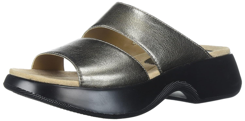 Dansko Women's Lana Slide Sandal B072WHD64F 39 M EU (8.5-9 US)|Pewter Nappa