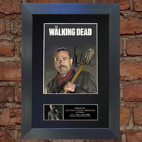 Amazon.com: NEGAN J DEAN The Walking Dead Signed Autograph Mounted ...