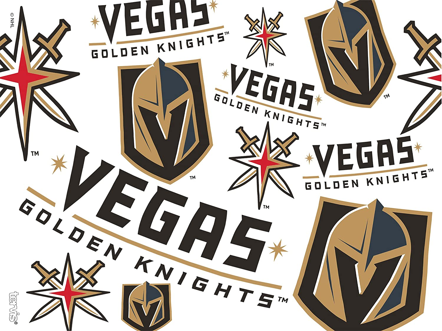 Tervis 1272281 NHL Vegas Golden Knights All Over Tumbler with Wrap and Black Lid 24oz Clear