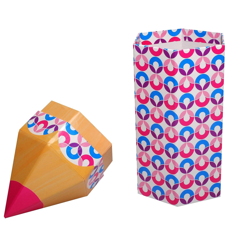 rosa // pink // lila Deko f/ür den Schulanfang inkl alles-meine.de GmbH 3 in 1: XL Stift gro/ße Geschenkbox // Stiftebox // Aufbewahrungsbox Name Kreise 28 cm Kinder..