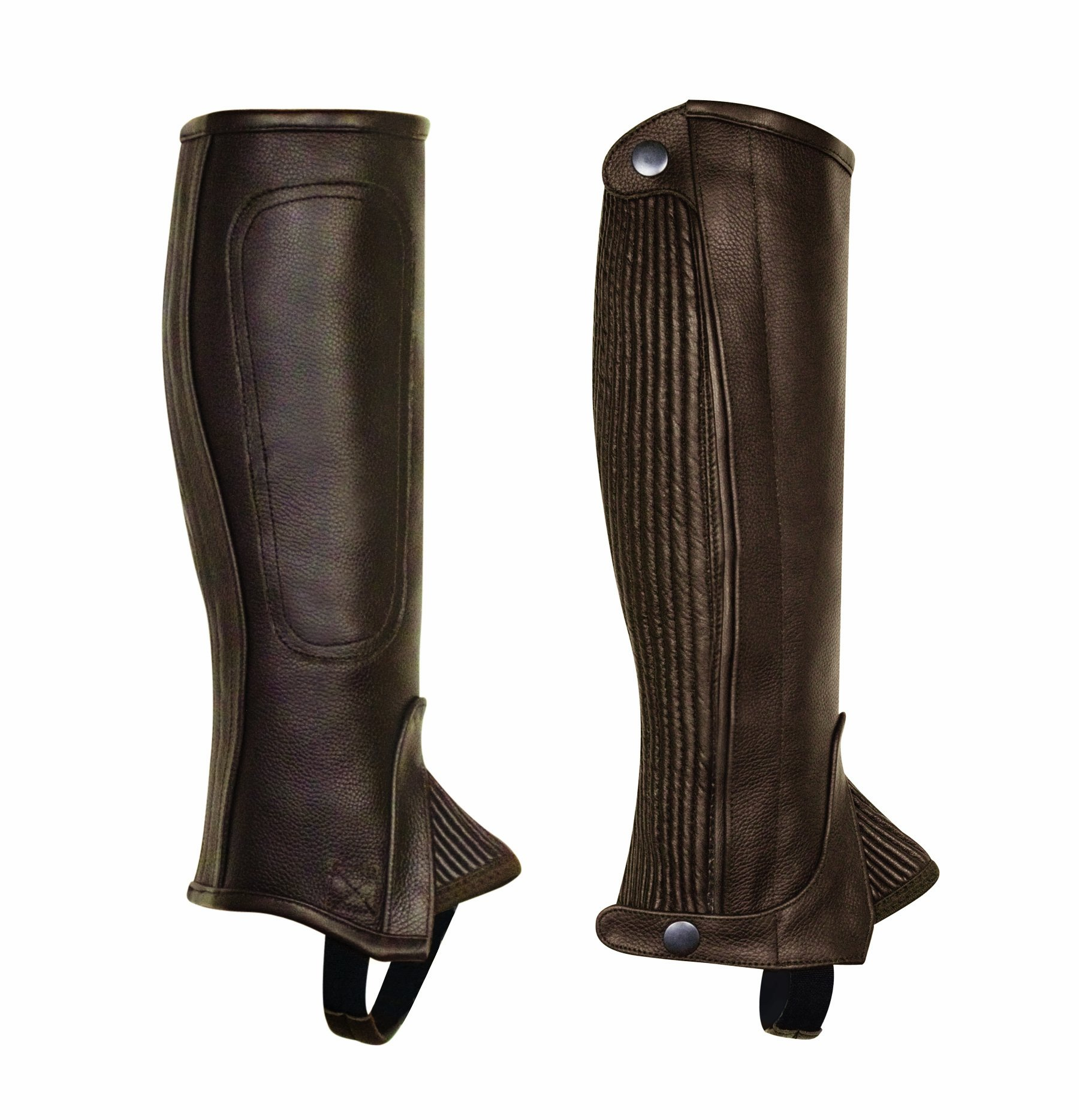 Perri's Children's Professional Half Chaps, Brown, Small