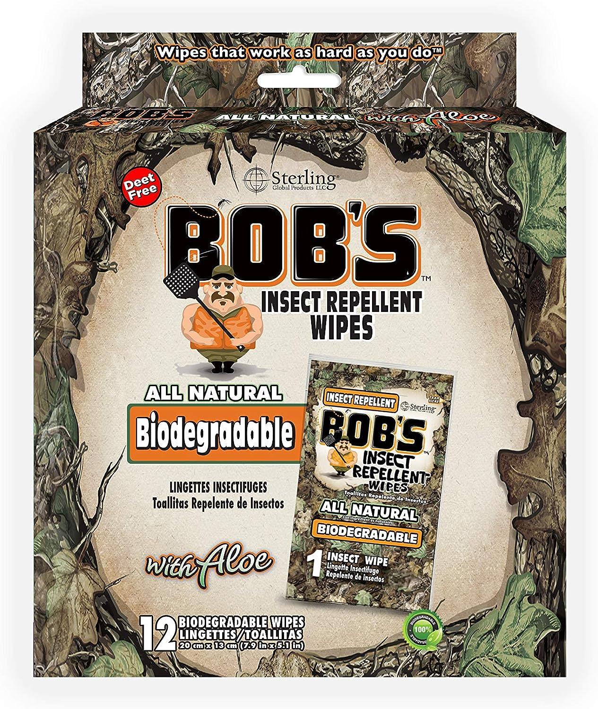 Bobs Toallitas repelentes de insectos, biodegradables, todas las ...