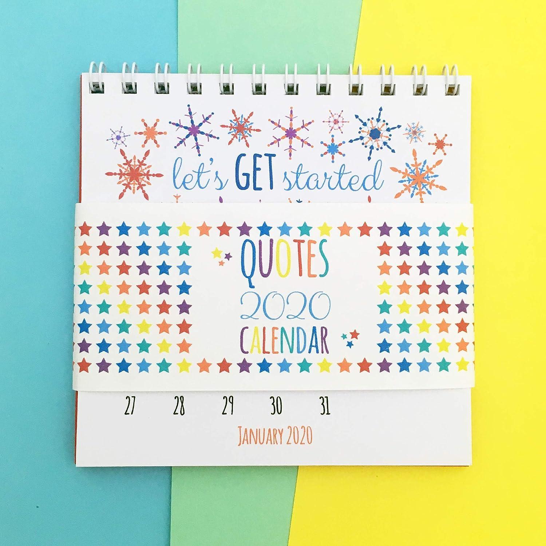 positive quotes desk calendar amazon co uk handmade