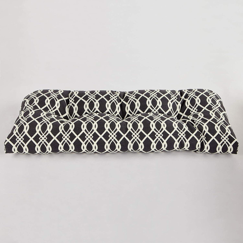 BrylaneHome Tufted Wicker Settee Cushion – Hedda Fresco