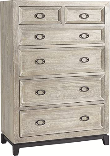 Signature Design By Ashley – Halamay Six Drawer Chest – Gray