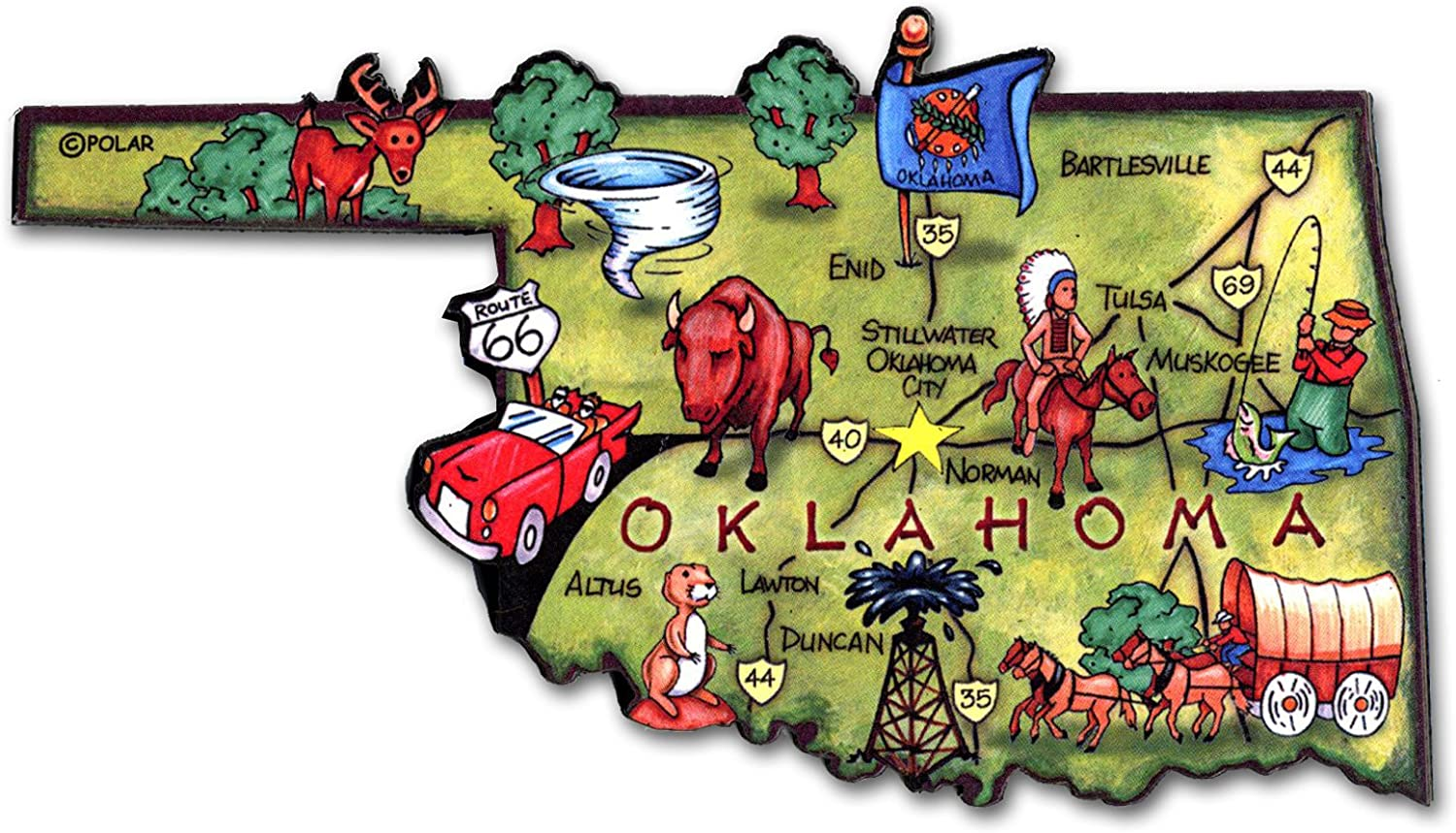 ARTWOOD MAGNET - OKLAHOMA STATE MAP
