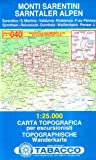 Sarntaler Alpen: Wanderkarte Tabacco 040. 1:25000 (Cartes Topograh, Band 40)