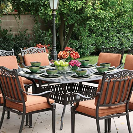 Amazon Com Darlee Charleston 9 Piece Cast Aluminum Patio Dining