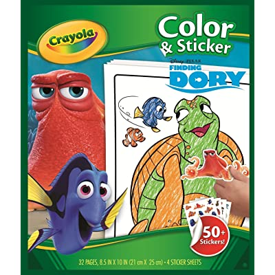Crayola Finding Dory Color & Sticker Book: Toys & Games [5Bkhe0501173]