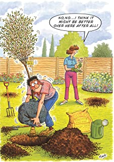 Over Worked Gardener Funny Humourous Blank Card The Side Of Life