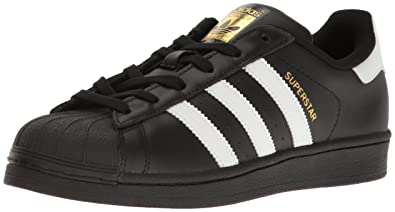 adidas Originals Women's Shoes | Superstar, Black/White/Metallic Gold, (10.5