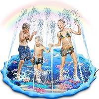 Deals on Magicfun Sprinkler and Splash Pad, Large 68-inch Pool