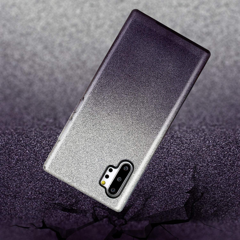 Nicht f/ür Note 10 Hancda Glitzer H/ülle f/ür Samsung Galaxy Note 10 Plus Handyh/ülle Case 3 in 1 Silikon TPU Cover H/ülle Glitzer Bling Gl/änzend Papier Innere Hart PC Hard Schale D/ünn Schutzh/ülle,Gelb