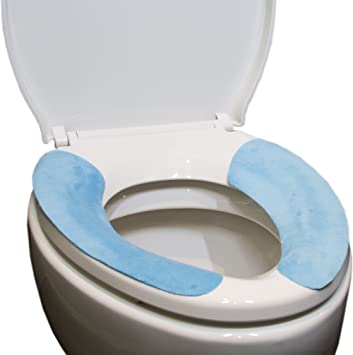 Charmant Amazon.com: THE GUIu0027S HOUSEWARE Silicone Sticky Bathroom Warmer Washable  Health Toilet Seat Cover Pads (1 Set Green U0026 1 Set Blue .ultra Thin  Type,thickness ...