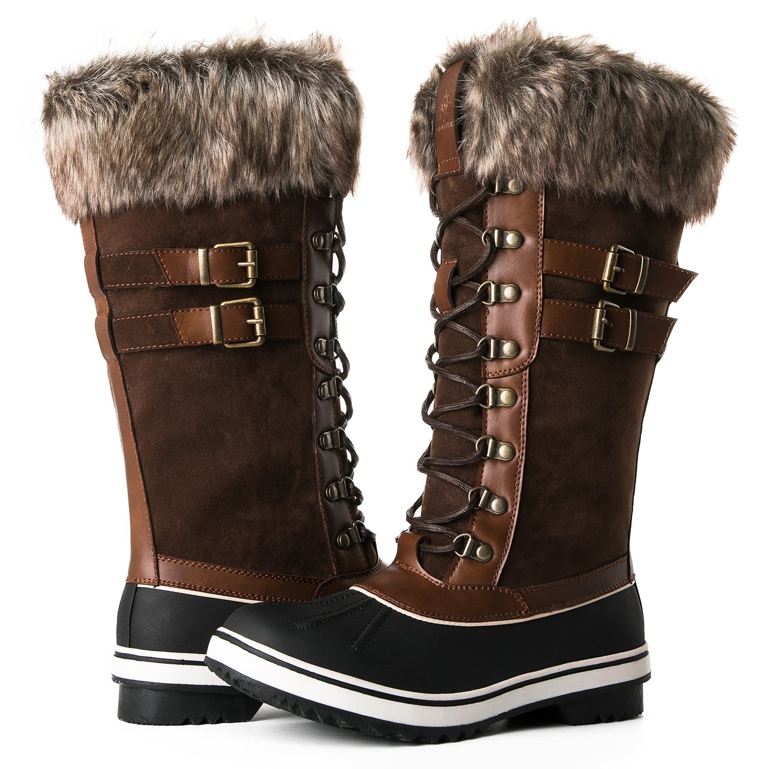 Global Win GLOBALWIN Women's 1730 Winter Snow Boots B075MMXFKC 10.5 B(M) US|1735brown