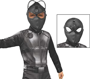 Rubie's Marvel Spider-Man Far from Home Child's Stealth Spider-Man Deluxe Fabric Mask with Molded Goggles