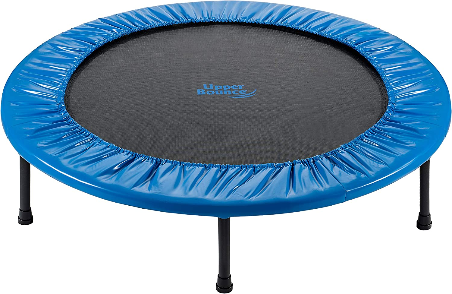 Upper Bounce 40 Mini Round Double-Fold Compact Rebounder Trampoline with Travel Carry Bag