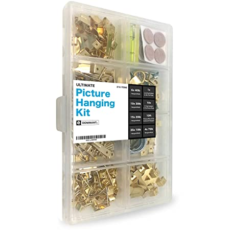 Ultimate Picture Hanging Kit - 216pc Assortment, Heavy-Duty Hardware ...