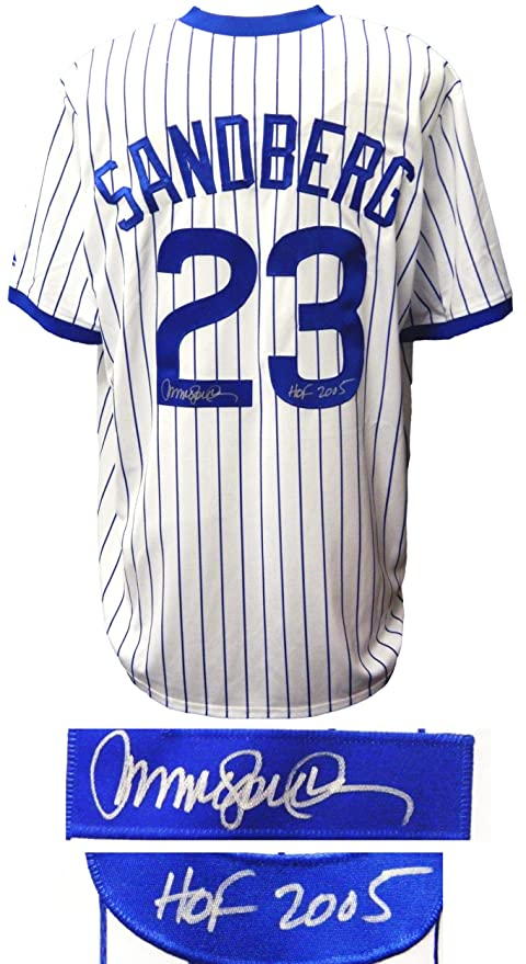 sale retailer 7d4fc 8bec7 Ryne Sandberg Signed Jersey - T B White Cooperstown ...