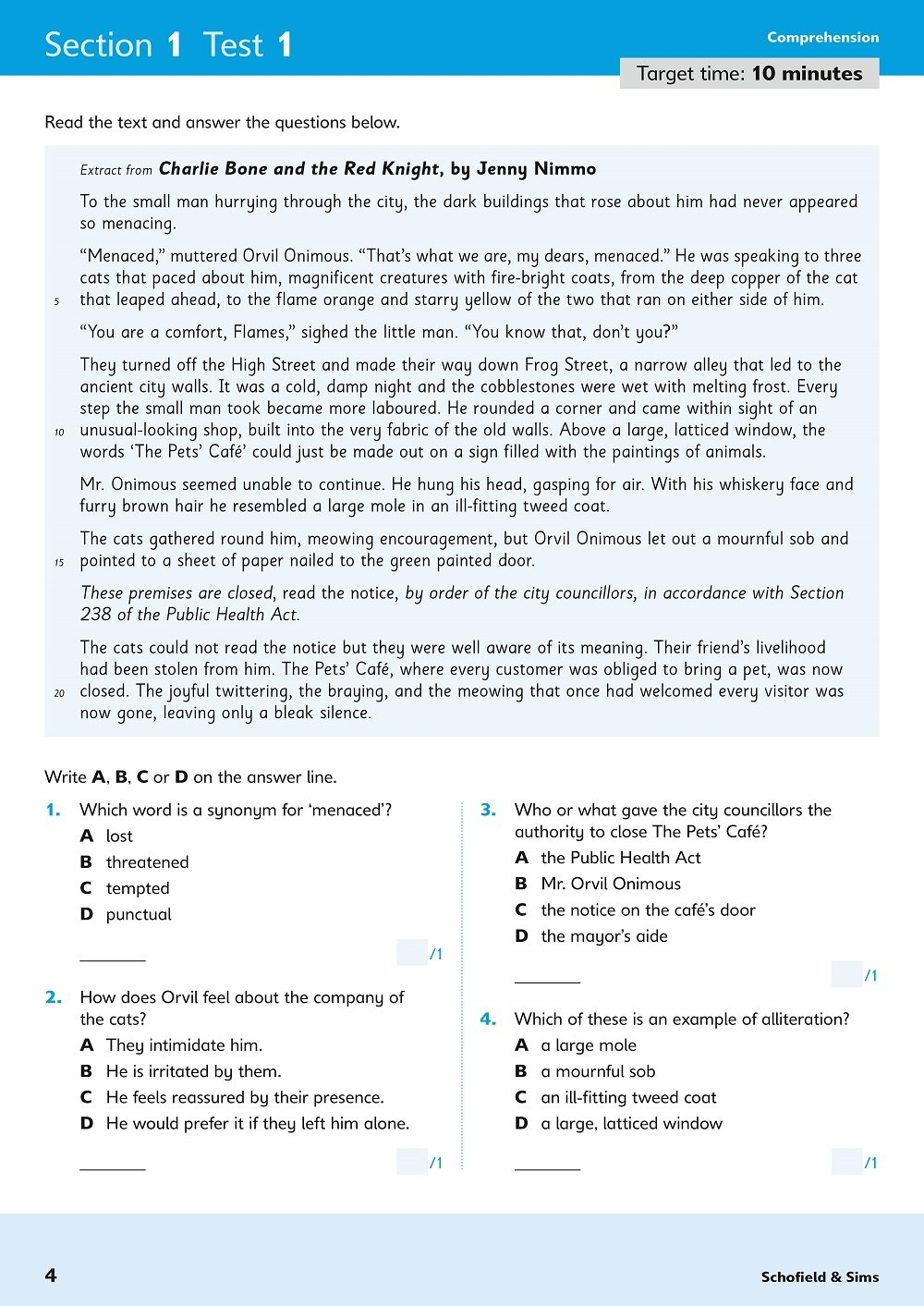 11+ English Rapid Tests Book 5: Year 6, Ages 10-11: Amazon co uk