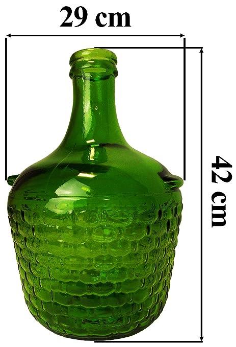 País estilo mochila Darkgreen damajuana/tarro de cristal con tapón de corcho para vino Making
