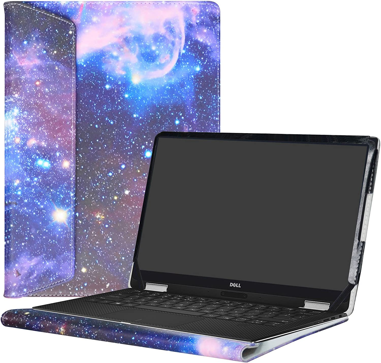 """Alapmk Protective Case Cover For 13.3"""" Dell XPS 13 9370 9360 9350 9343/XPS 13 2 in 1 9365 Laptop[Note:Not fit xps 13 7390 9380 9333 L321X/XPS 13 2 in 1 7390],Galaxy"""