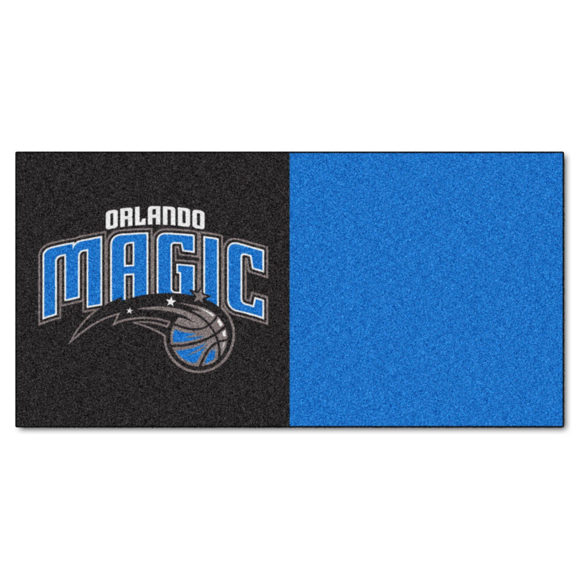 FANMATS NBA Orlando Magic Nylon Face Team Carpet Tiles