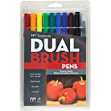 Tombow Dual Brush Pen Set, 10-Pack, Primary Colors (56167)