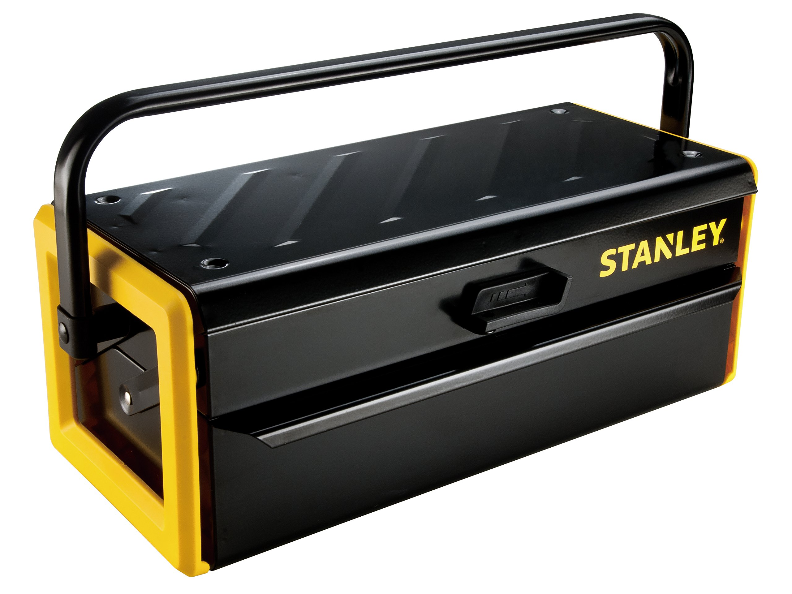 Stanley Tools Metal Cantilever Toolbox with Central Lock and Metal Handle | 16''