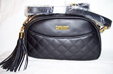 c0d9f8d7cde7ea Image Unavailable. Image not available for. Color: Joy & Iman, Diamond  Quilted Genuine Leather Crossbody Bag ...