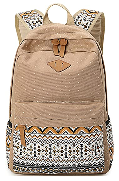 822e65d608c01 Keshi Neu Faschion Rucksäcke Damen Mädchen Schüler Lässige Canvas Rucksack  Vintage Backpack Daypack Schulranzen Schulrucksack Wanderrucksack