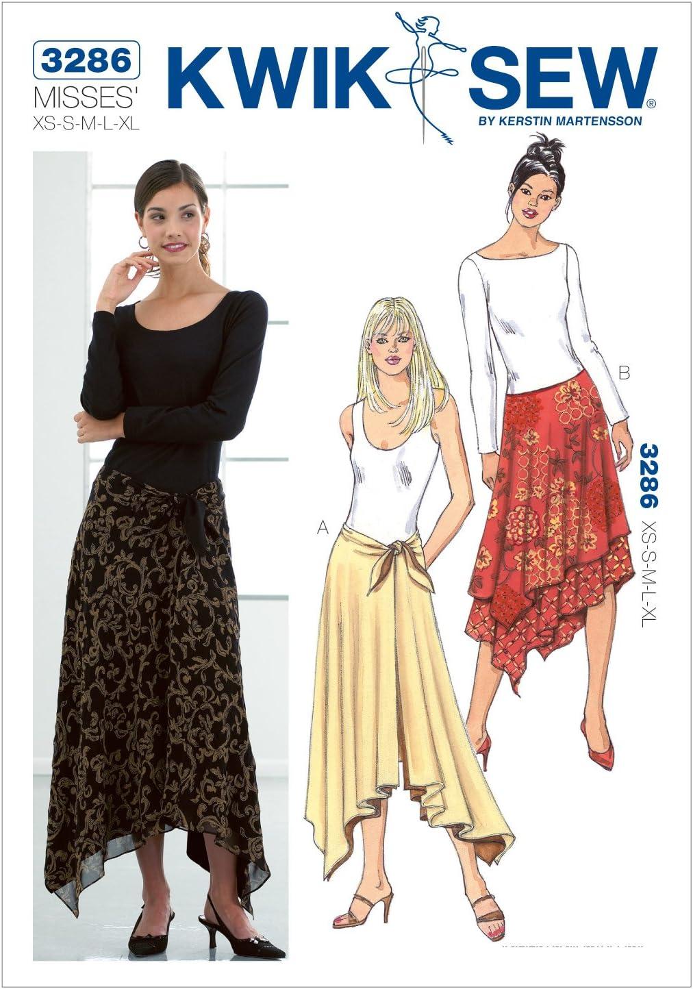 Kwik Sew 3286 - Patrones de costura para confeccionar falda ...