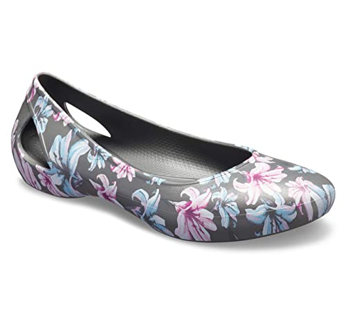0bb1281aaf2a17 crocs Women s Laura Graphic Flat W Ballet  Buy Online at Low Prices in  India - Amazon.in