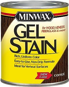 Minwax 260914444 Interior Wood Gel Stain, 1/2 pint, Coffee