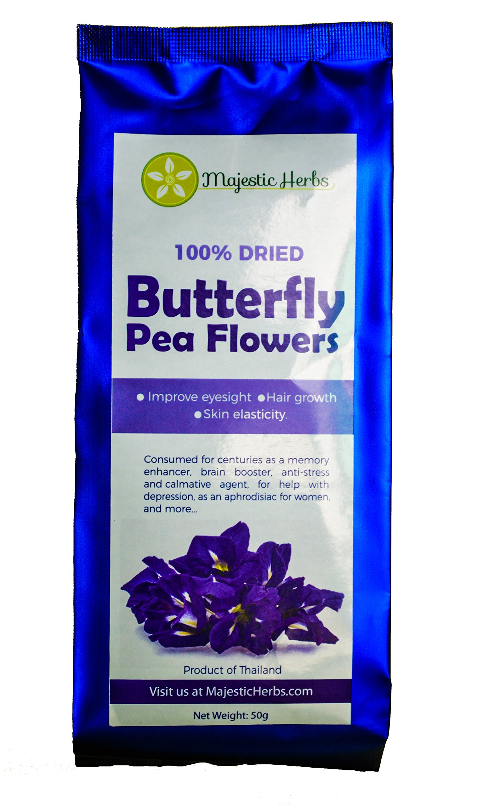 Wild hibiscus blue tee 100 pure butterfly pea flower tea 11 oz butterfly pea flowers clitoria ternatea by majestic herbs 100 organicpesticide izmirmasajfo