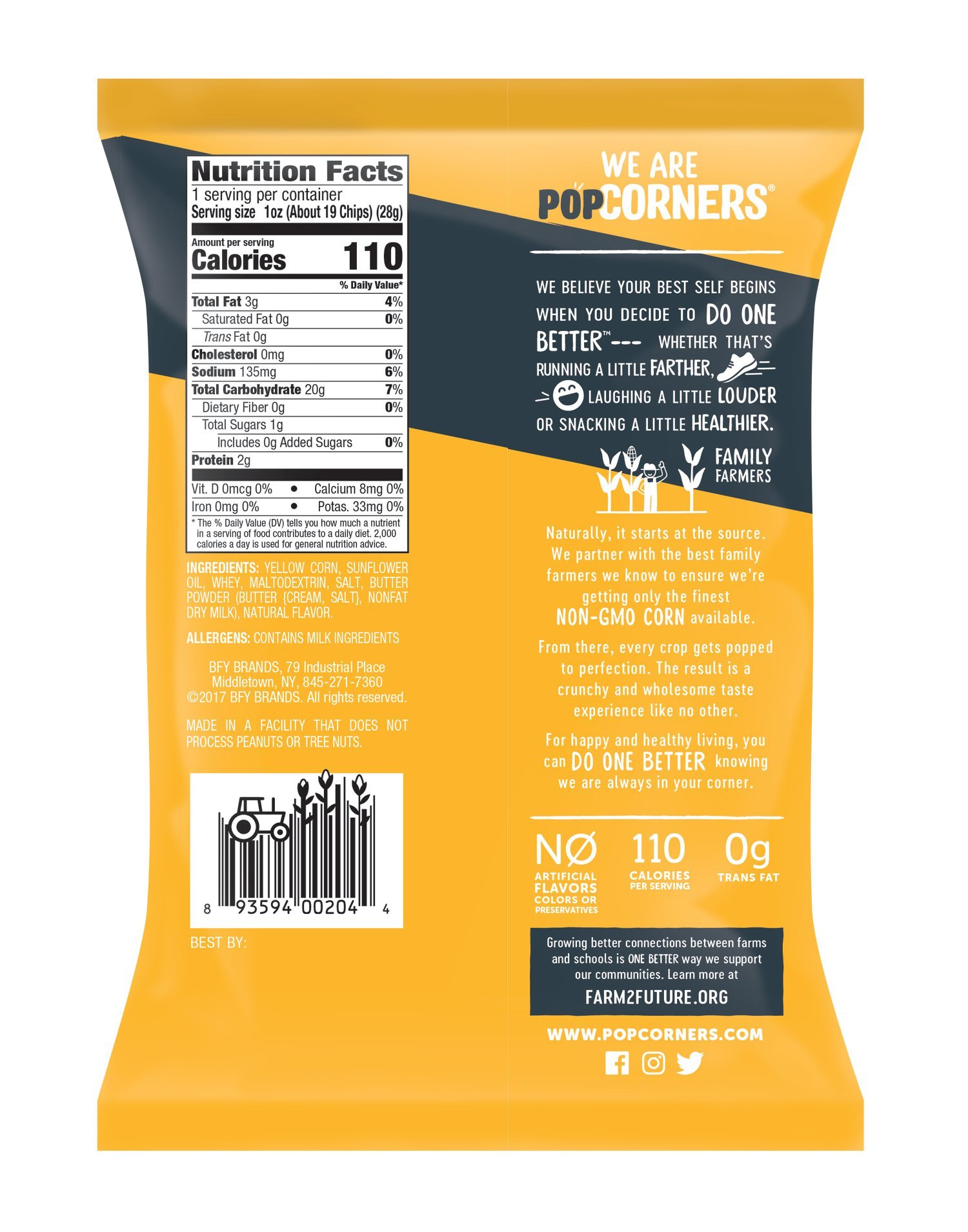 PopCorners Cinema Style Butter Snack Pack   Gluten Free Snack   (40 Pack, 1 oz Snack Bags) by Popcorners (Image #2)