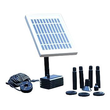 Fontaine solaire Pompe solaire avec batterie de secours - 2 W étang ...