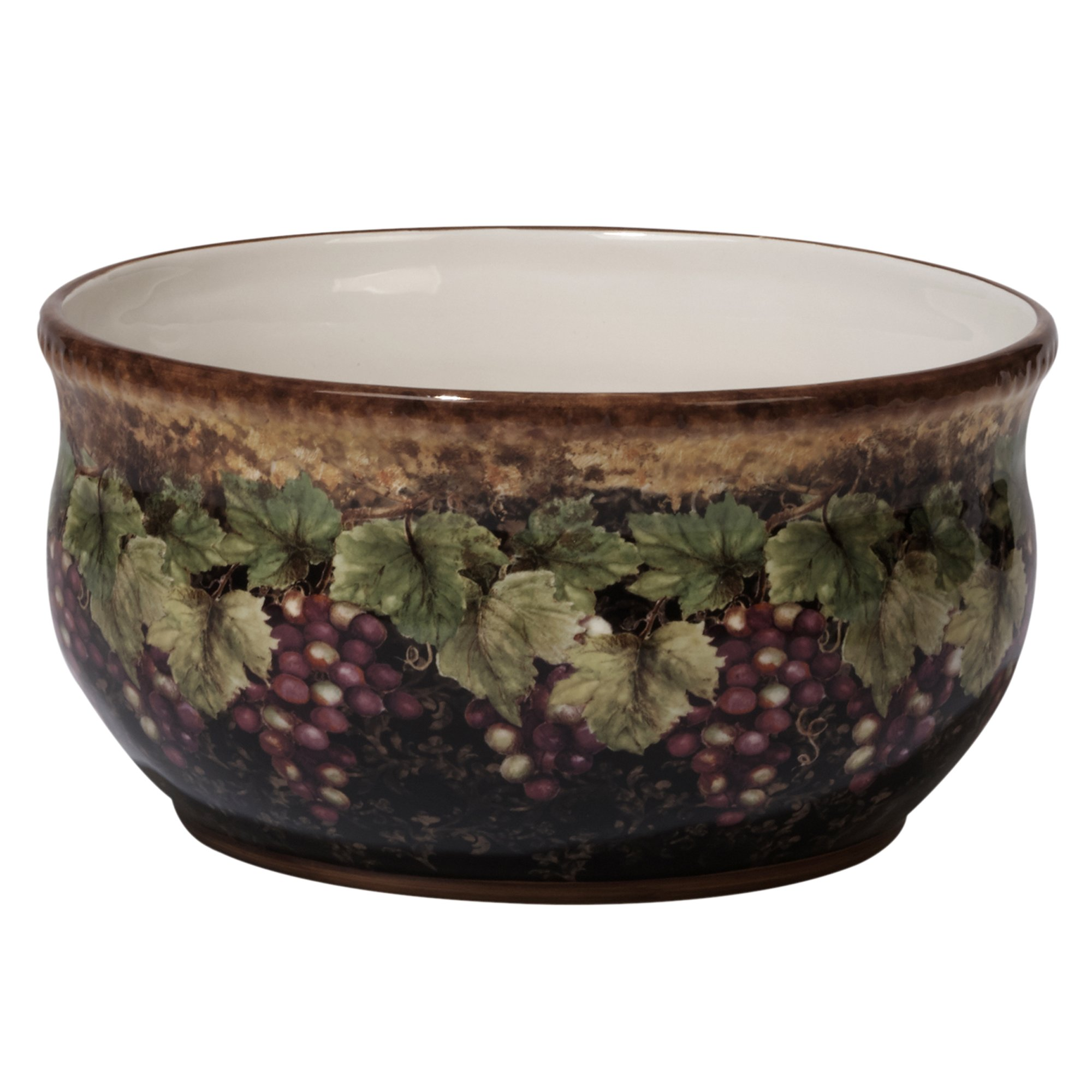 Certified International Gilded Wine Deep Bowl, 10'' x 5'', Multicolor
