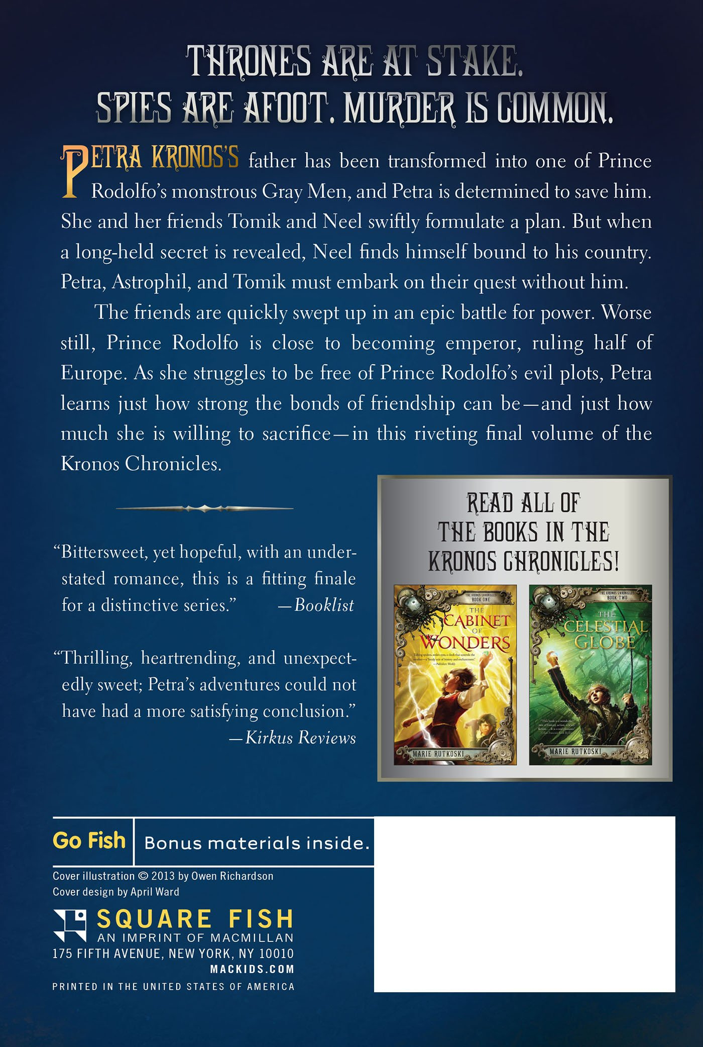 Amazon: The Jewel Of The Kalderash: The Kronos Chronicles: Book Iii  (9781250010254): Marie Rutkoski: Books