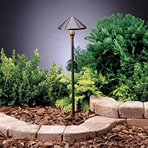 Kichler 15326AZT, Six Groove Low Voltage Post Landscape Path Lighting Fluorescent, Bronze