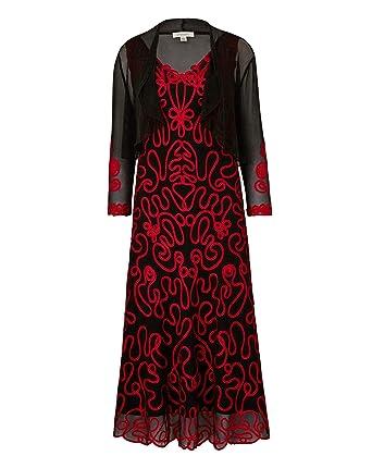 bd05463b013 JD Williams Womens Nightingales Cornelli Dress   Shrug  Amazon.co.uk ...