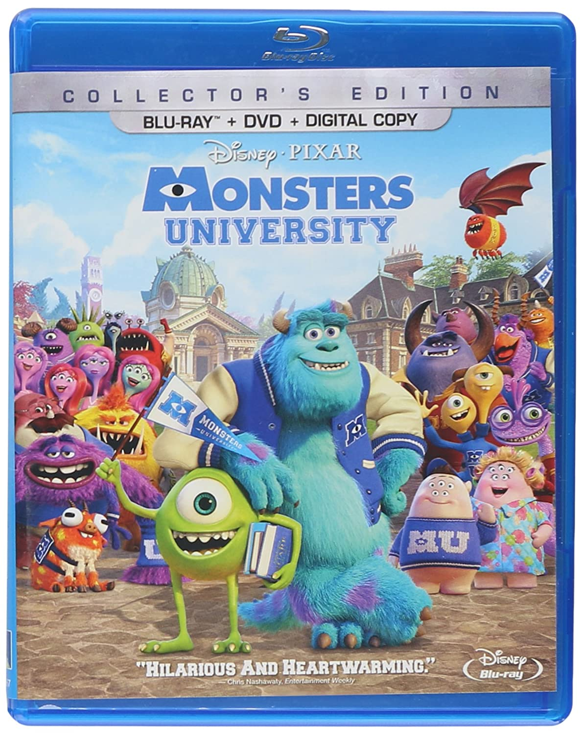 Amazon Com Monsters University Blu Ray Dvd Digital Copy Billy Crystal John Goodman Steve Buscemi Helen Mirren Peter Sohn Joel Murray Sean P Hayes Dave Foley Charlie Day Alfred Molina Tyler Labine