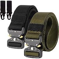 2er Unisex Gürtel Nylon Canvas Belt, Schnellverschluss Military Style Shooters Nylon Gürtel mit Metallschnalle MEHRWEG