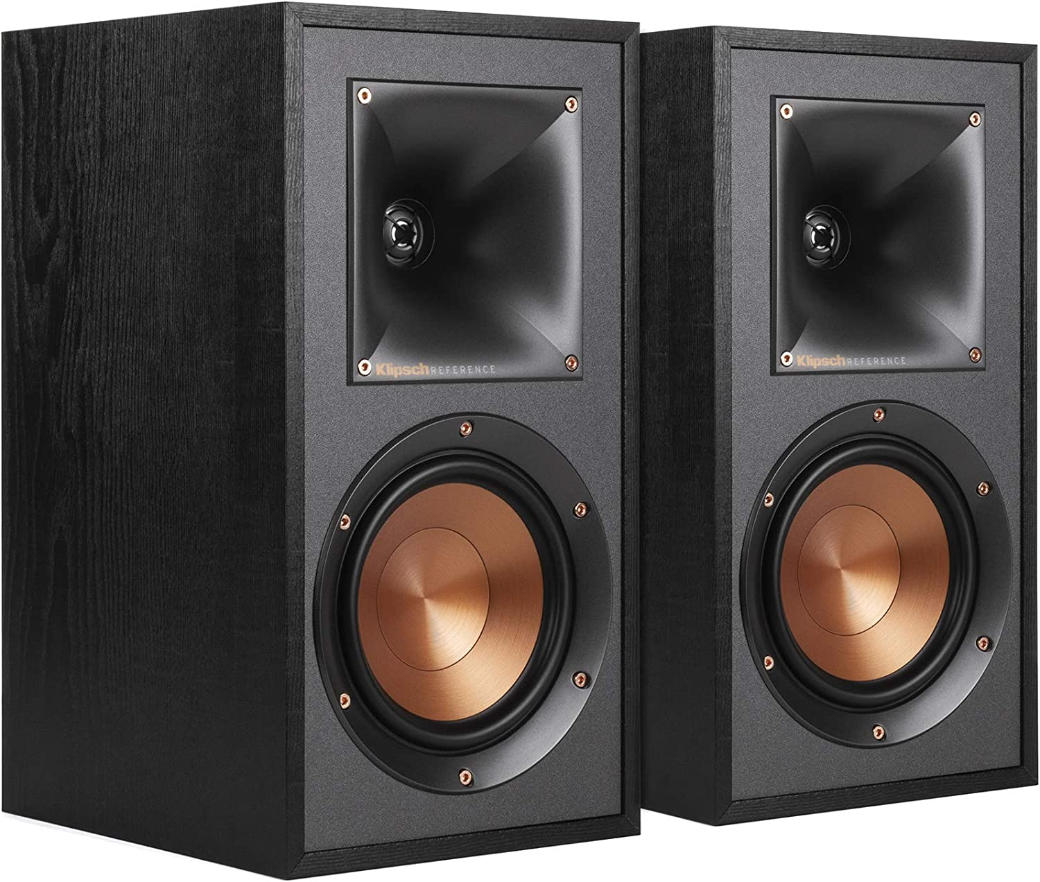 Klipsch R-41M Powerful detailed Bookshelf Home Speaker Set of 2 Black