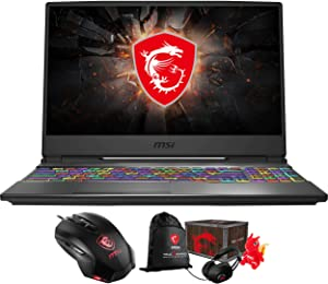 MSI GP65 Leopard 10SFK-047 Gaming and Entertainment Laptop (Intel i7-10750H 6-Core, 64GB RAM, 512GB PCIe SSD + 2TB HDD, NVIDIA RTX 2070, Win 10 Home) with Gaming Accessory, Loot Box