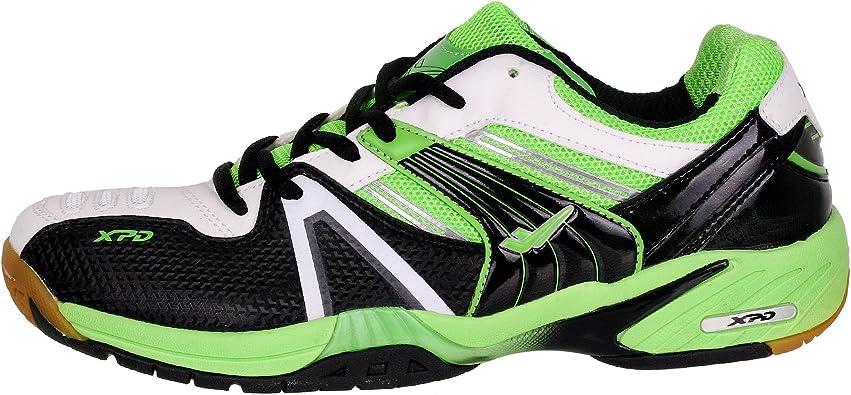 XPD Professional Sports Shoes - Zapatillas de bádminton de Material Sintético para Hombre Negro Negro/Verde/Blanco: Amazon.es: Zapatos y complementos